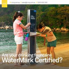Did you know that plumbers are only allowed to install WaterMark certified products? Avoid the hassle and ask for a WaterMark certificate! #CIVIQAu #abcb #AustralianBuildingCodesBoard #leadfree #cleanwater #certified #WaterMark #drinkingfountain Drinking Fountain, Drinking Water, Water Garden, Certificate, Public, News, Products, Water Gardens, Gadget