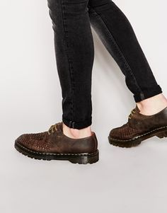 Dr Martens Leather Woven Shoes http://asos.do/kmBwm6