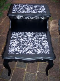 Uniquely Chic Furniture: French Mod Podge Fabric Table