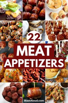 22 Easy Meat Appetizers Perfect For Your Next Party Make Ahead Appetizers, Finger Food Appetizers, Holiday Appetizers, Yummy Appetizers, Finger Foods, Appetizer Recipes, Holiday Recipes, Party Appetizers, Tapas