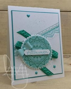 🍀May your blessings outnumber the shamrocks you grow. And may trouble avoid you whenever you go. Happy St. Patrick\'s Day! 🍀 #delicatedetails #makeamedallion #projectlifedateit #stampinup #literallymyjoy #papercrafting #cardmaking #stampinupdemonstrator #summer #bows #emeraldenvy #medallion #splatter #lace #plxsu #allaboutgreen #20162017AnnualCatalog #2017SaleABrationCatalog #linkinprofile
