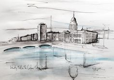 The Custom House is quite literally From the Sketchbook. These prints are often preliminary sketches for the more intricate drawings in Stephens collection of porcelain landscapes - Captured Memories. They are just a bit loser in style and often have a small splash of colour in them...  From the Sketchbook pieces are printed on paper, and presented flat ready for framing (by you, we do not provide frames for this body of work). Prints from our From the Sketchbook collection are available in…
