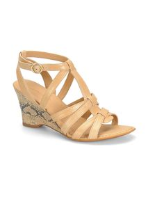 Look at this Børn Crown Crema Yulia Leather Sandal on #zulily today!