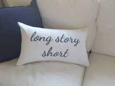 Large Custom Made Personalised Embroidered Cushion Cover + insert - 50cm x 30cm by PrettyPracDesigns on Etsy