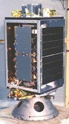 UoSAT-1: The secondary computer, which I designed, is mounted on the two grey panels at the front.