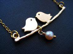 Bird Necklace - Collar pajaritos
