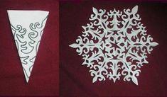 Jak zrobić papierowe Snowflake kwiaty (darmowy szablon)