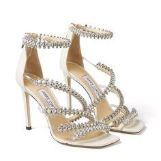 Bridal Heels, Wedding Heels, Rhinestone Shoes, Jeweled Sandals, Jimmy Choo Shoes, Crystal Bracelets, Neue Trends, Leather Sandals, Designer Shoes