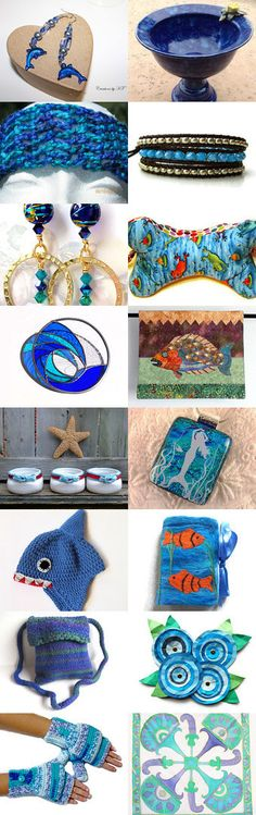 Sailing the Ocean Blue by Ingrid Schmelter from kaslkaos on Etsy --Pinned with TreasuryPin.com 1.
