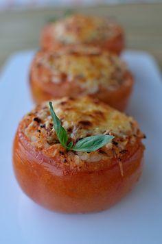 Tomates rellenos de arroz Cooking Time, Baked Potato, Vegetarian Recipes, Recipies, Dishes, Baking, Vegetables, Vegan Food, Ethnic Recipes