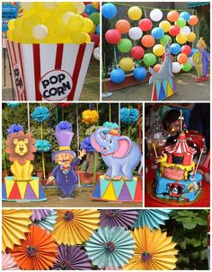 First Birthday Carnival Party with Lots of Great Ideas via Kara's Party Ideas | Games, cake, decor, cupcakes, and MORE! KarasPartyIdeas.com ...