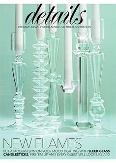NEW FLAMES: Sleek Glass Candlesticks For Your Wedding Decor