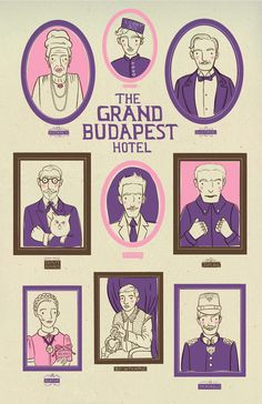 The Grand Budapest Hotel (2014) ~ Alternative Movie Poster by Heather Lund #amusementphile