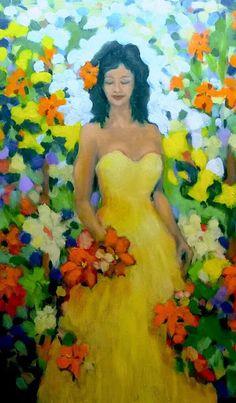 Divagar entre PINTURAS e outras ARTES: Em Amarelo - Vestidos da cor da alegria Strapless Dress, Blog, Dresses, Yellow, Joy, Colors, Vestidos, Artists, Strapless Gown
