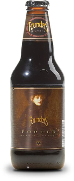 Porter: Pours silky black with a creamy tan head. The nose is sweet with strong chocolate and caramel malt presence. No absence of hops gives Founders' robust porter the full flavor you deserve and expect. Cozy like velvet. It's a lover, not a fighter.  6.5% ABV, 45 IBUs