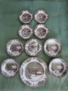 The Friendly Village By Johnson Bros England Collection Antique Dishes Hand Engraving