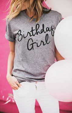 Birthday Girl Tee | Hello Fashion Blog