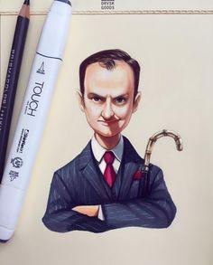 lera_kiryakova Fan Art Sherlock, Sherlock Drawing, Holmes Brothers, Realistic Cartoons, Mycroft Holmes, Portrait Cartoon, Small Drawings, Cartoon People, Johnlock