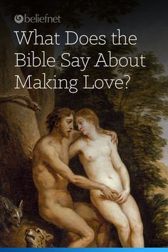 The Bible touches on sex, making love and intimacy. Love making between partners will assist couples in having a healthy and fulfilling marriage.