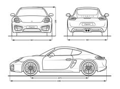 Porsche Cayman S blueprint Car Top View, Car Cake Tutorial, Cayman S, Grand Cayman, Porsche 904, Iron Man Wallpaper, Ferrari Laferrari, Honda Civic Type R, Mitsubishi Lancer Evolution