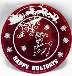 Holiday Charger plate