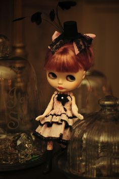 """gothic lolita Blythe Doll- reminds me of the old """"kissing a smoker is like eating _____"""" commercials"""