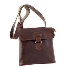 Pellevera, Livio, men leather shoulder bag.