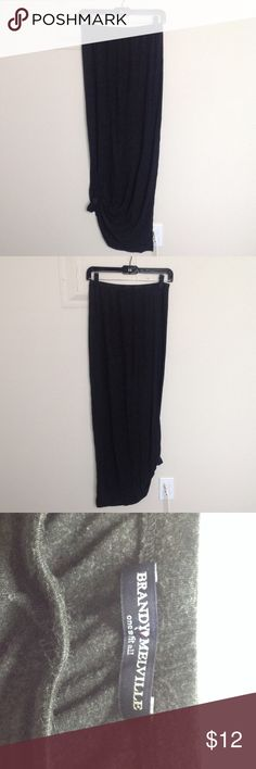 Brandy Melville dark grey maxi skirt Pre loved, measurements: waist 13in flat length 37.5in Brandy Melville Skirts Maxi