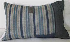 Vintage Indigo Boro Pillow Original Patchwork c1900s