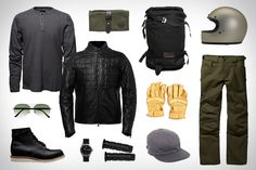 The original buyer's guide for men, filled with the world's best gear, apparel, and automobiles. Motorcycle Pants, Motorcycle Style, Bike Style, Men's Style, Biker Wear, Rocker Look, Full Face Helmets, Riding Gear, Bike Design