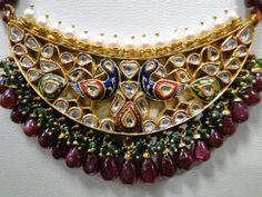 vintage antique 22 K gold Diamond Polki peacock by TRIBALEXPORT, $7999.00
