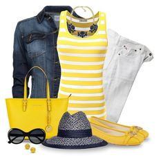 Michael Kors Yellow Tote And Moccasins
