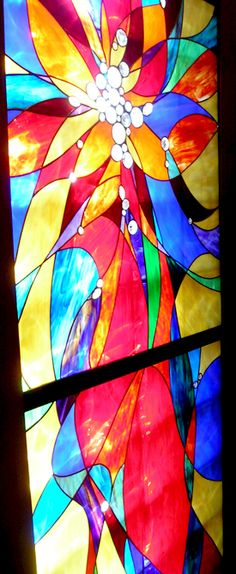Stained Glass Detail of 5 Panel Installation