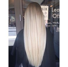 Long and blonde