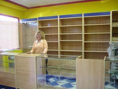 Resultado de imagen para mostradores de madera para tienda de abarrotes