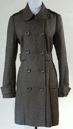 H Grey Peacoat Size 10