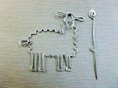 LLAMA SHAWL PIN wirework от chatnoir77 на Etsy