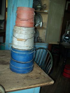 Red, white and blue firkins