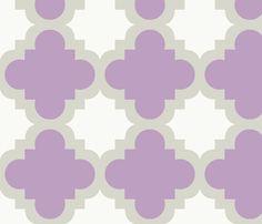 burst lavender white fabric by mytinystar on Spoonflower - custom fabric