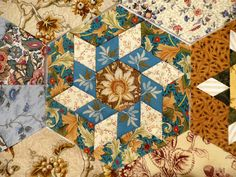Barbara S's Morris Hexathon #14. Click to see lotsa hexies.