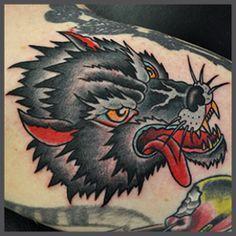 Wolf Head Traditional Tattoo