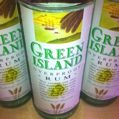 Green Island Rum from Mauritius - No Rum like Mauritian Rum - made from the local Sugar Cane.