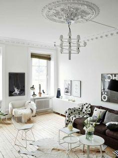 Wohnzimmer skandinavisches Design kreative Ideen