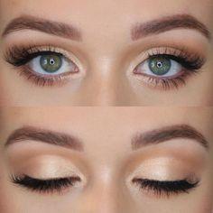 Do you love this moment for my bridesmaids - make up - . - Make-Up - Bird Makeup, Blue Eye Makeup, Cute Makeup, Bridal Makeup For Green Eyes, Simple Bridal Makeup, Light Eye Makeup, Makeup Glowy, Fair Skin Makeup, Airbrush Makeup
