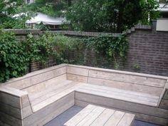 En in de nieuwe tuin ook een loungebank