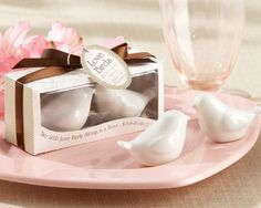 Lovebirds in the Window Ceramic Salt & Pepper Shakers