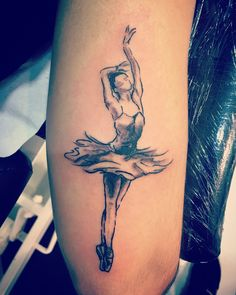 Bailarina esbozo Tattoo