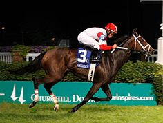 Odds-on choice Kitten's Dumplings took the overland route to victory for a confident Joel Rosario, winning the $113,900 Regret Stakes (gr. IIIT) going away on Stephen Foster Handicap night June 15 at Churchill Downs
