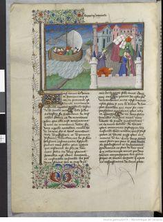 Scene from the Decameron, 1400-1450; BNF Bibliothèque de l'Arsenal, Ms-5070 réserve, f.155v