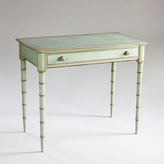 A Rare Regency Blue Painted Table : The British Antique Dealers' Association